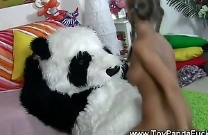 Horny stopple teen gets banged by toypanda