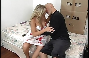 Amazing Blonde Grown up seducing her son&#039_s affiliate