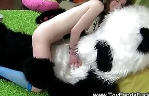 Toypanda show topless teen artist his cock