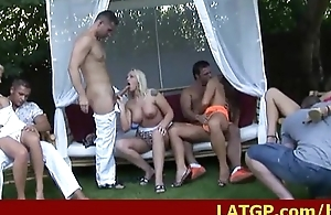 Group sex party fro hideous girls fucking 25