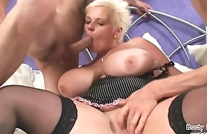 Fat breast Keira Handsome Twosome Load of shit