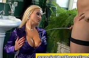 Pissing aurous shower fetish couple