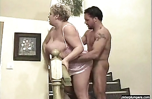 Broad in the beam granny fucked by young stud