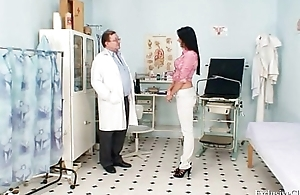 Brunette cosset Melissa Ria and dirty gyno doctor