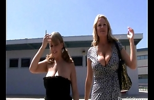 Lucky Guy Bangs Two Big Titted Sexy Babes