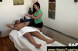 Oriental masseuse gives purchaser nice warm near